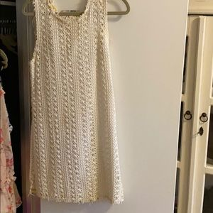 Free people beach white dress small